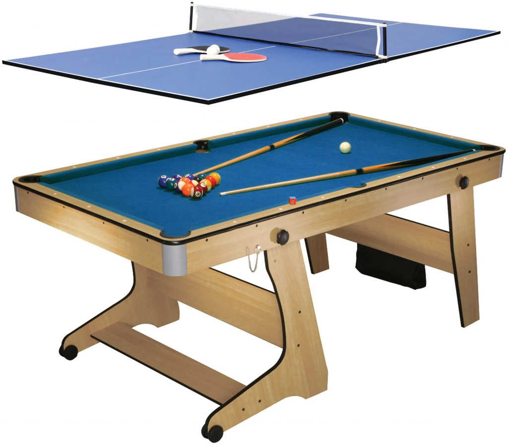 Biljardbord BCE Folding pool plus bordtennisskiva
