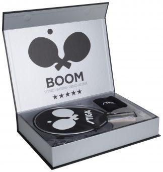 Boom 5-stjärnigt Set Bordtennisset Silver