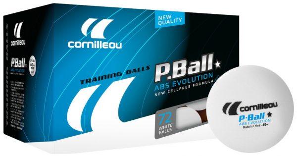 Bordtennisbollar Cornilleau ABS EVOLUTION White 72-pack