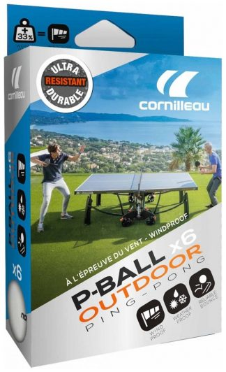 Bordtennisbollar Cornilleau Outdoor Ultradurable Vit 6-pack