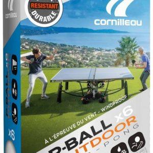 Bordtennisbollar Cornilleau Outdoor Ultradurable Vit 6-pack