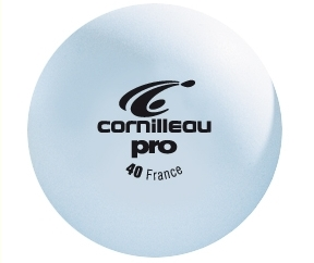 Bordtennisbollar Cornilleau Pro vit 6-pack 40 mm
