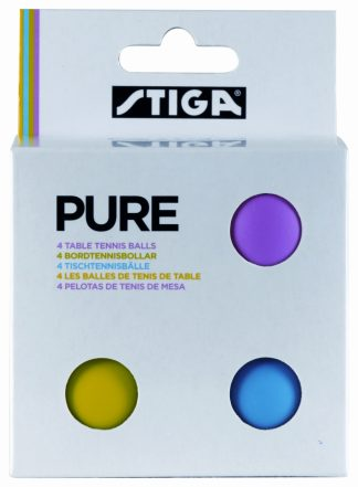 Bordtennisbollar Stiga Sports Pure Flerfärg 4-pack