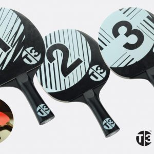 Bordtennisracket T3 Pingis T3B Racketset 3-pack
