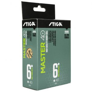 Master 40+ 6-pack Pingisbollar Orange