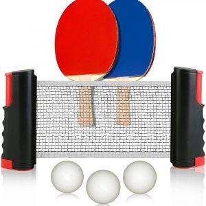 Portabelt Pingis-set   Bordtennis-set med Flex nät