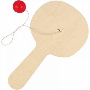 Racket med boll - 23 x 13 cm - Tjocklek 5 mm - Polywood